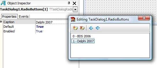 Add RadioButtons to TaskDialog in Delphi 2007
